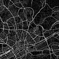 Frankfurt Germany Dark Map by Jurq Studio