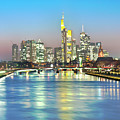 Frankfurt  Night Skyline by Ixefra