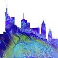 Frankfurt Skyline 3 by Erzebet S
