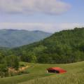 Franklin County Virginia Red Barn by Teresa Mucha