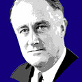 Franklin D. Roosevelt Grayscale Pop Art by Filip Hellman
