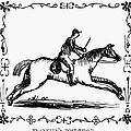 Franklin: Post Rider, 1775 by Granger