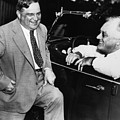 Franklin Roosevelt And Fiorello Laguardia In Hyde Park - 1938 by War Is Hell Store
