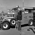 Franks Famous Franks Hot Dogs And Ice Cream Truck  1973 by California Views Archives Mr Pat Hathaway Archives
