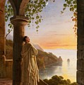 Franz Ludwig Catel  A Monk Meditating In A Cloister by Franz Ludwig Catel