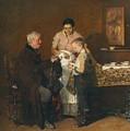 Franz Rumpler  The Letter 1882 by Franz Rumpler