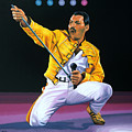 Freddie Mercury Live by Paul Meijering