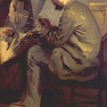 Frederic Bazille Painting The Heron 1867 by Renoir PierreAuguste