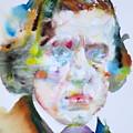 Frederic Chopin - Watercolor Portrait by Fabrizio Cassetta