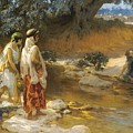 Frederick Arthur Bridgman 1847   1928 American At The Water S Edge by Frederick Arthur Bridgman