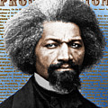 Frederick Douglass And Emancipation Proclamation Painting In Color  by Tony Rubino