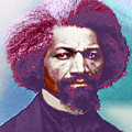 Frederick Douglass Painting In Color Pop Art by Tony Rubino