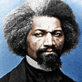 Frederick Douglass Painting In Color  by Tony Rubino