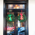 Fredricksburg Door Decorated For Christmas by Thomas Marchessault