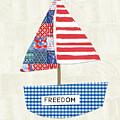 Freedom Boat- Art By Linda Woods by Linda Woods