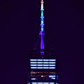 Freedom Tower In Rainbow Colors by Raymond Salani III