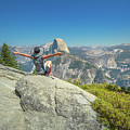 Freedom Woman At Glacier Point by Benny Marty