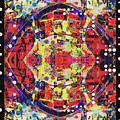 Freefall, Abstract With Border by Wendy J St Christopher