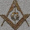 Freemason Coin Mosaic by Paul Van Scott