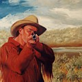 Freeze    Rifleman With Muzzle Loader Western Painting by Kim Corpany