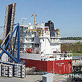 Freighter In Lock Of Saint Lawrence by Scimat