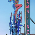 Fremont Street Lucky Lady And Gambling Neon Signs by Aloha Art