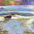 French Broad Rver Overflowing by Lisa Blackshear