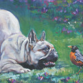 French Bulldog Meets Robin Redbreast by Lee Ann Shepard