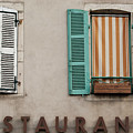 French Country Restaurant Windows by Jani Freimann