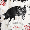 French Farm Sign Piglet by Mindy Sommers