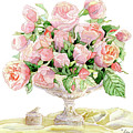 French Floral Still Life - Bouquet Of Antique English Roses by Audrey Jeanne Roberts