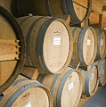 French Oak Barrels Of Wine At Midnight by Rich Reid