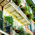 French Quarter Balconies - Nola by Kathleen K Parker