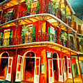 French Quarter Corner by Diane Millsap