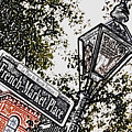 French Quarter French Market Street Sign New Orleans Colored Pencil Digital Art by Shawn O'Brien