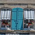 Shuttered Windows And Flowers by Matt Oaks
