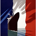 French Shipping Line Poster by Pd