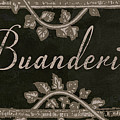 French Vintage Laundry Sign by Mindy Sommers