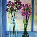 Fresh Cut Flowers In The Window by Patricia L Davidson