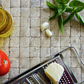 Fresh Italian Cooking Ingredients by Karen Foley