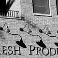 Fresh Produce Signage Black And White by Jill Reger