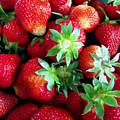 Fresh Ripe Perfect Strawberry by Jeelan Clark