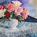 Fresh Roses by Nancy Isbell