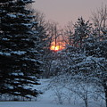 Fresh Snow At Sunrise by Kent Lorentzen