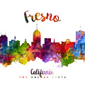 Fresno California Skyline 23 by Aged Pixel