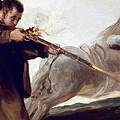 Friar Pedro Shoots El Maragato As His Horse Runs Off by Celestial Images