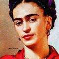 Frida In Red by Rafael Salazar