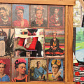 Frida Kahlo Display Picts by Chuck Kuhn