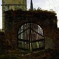 Friedrich Caspar David The Cemetery Gate by PixBreak Art