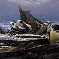 Friedrich Caspar David The Sea Of Ice by PixBreak Art